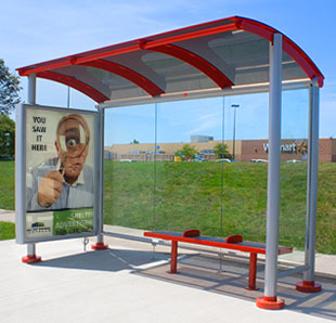bus shelter ad photo